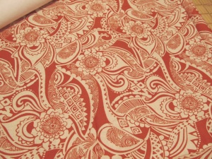 This is the outside fabric.  Pretty wild, huh?